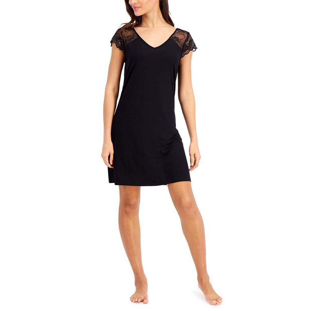 Lace-Sleeve Chemise Nightgown