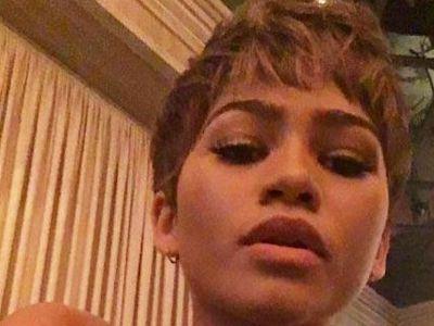 Zendaya selfie with pixie cut