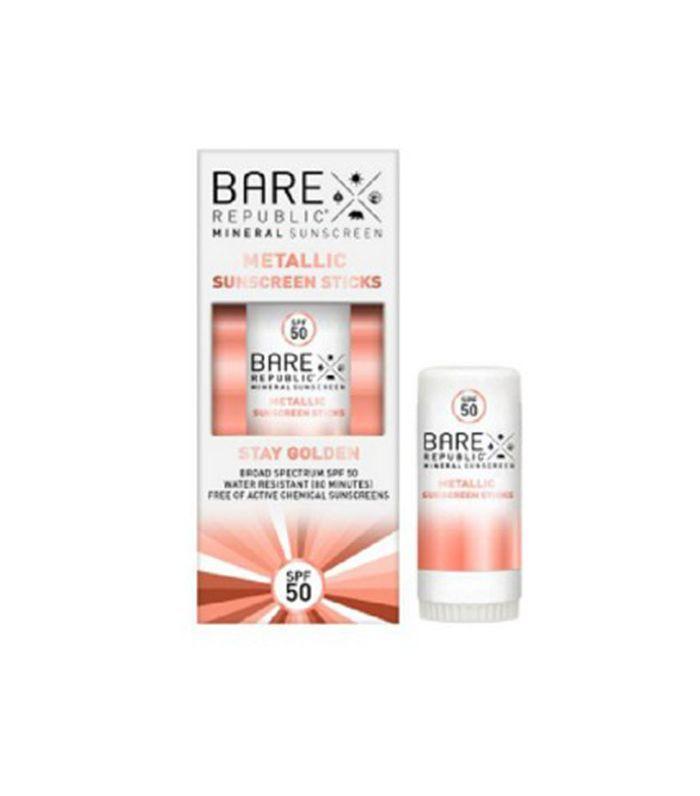 Bare Republic Sparkling Rose Shimmer Sunscreen Stick SPF50