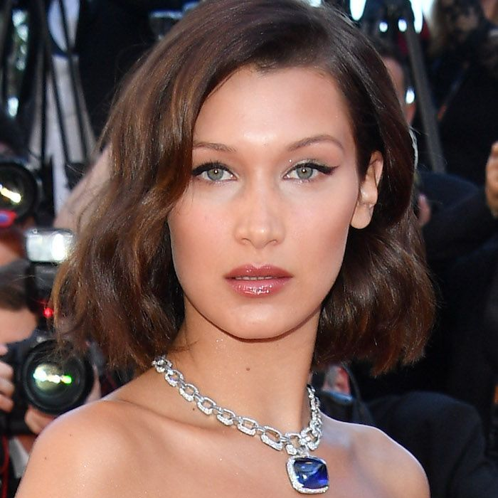 Bella Hadid Cannes Red Carpet lip gloss look