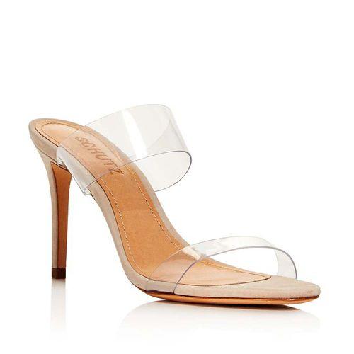 Ariella Clear Strap High-Heel Slide Sandals ($118)