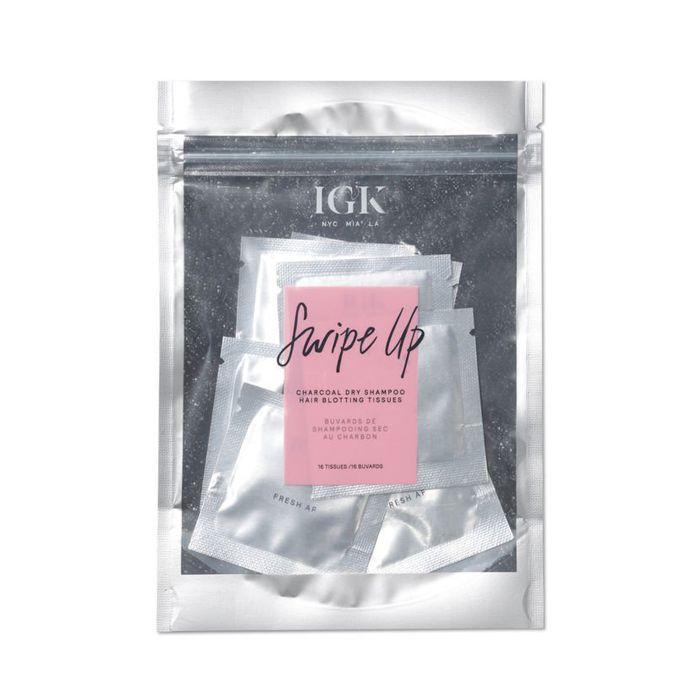 honeymoon beauty: IGK Swipe Up Black Charcoal Dry Shampoo Hair Blotting Tissues