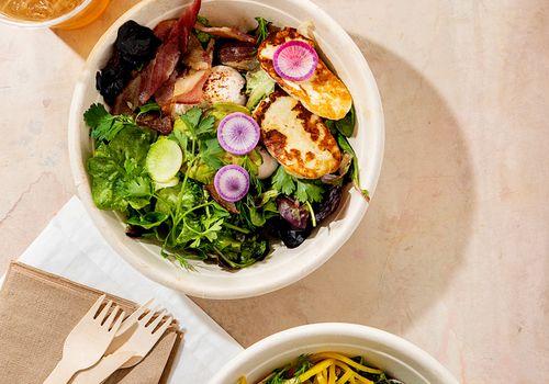 healthy salad meal bowls