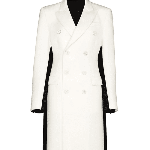 Wardrobe NYC x Browns 50 Two-Tone Double-Breasted Coat