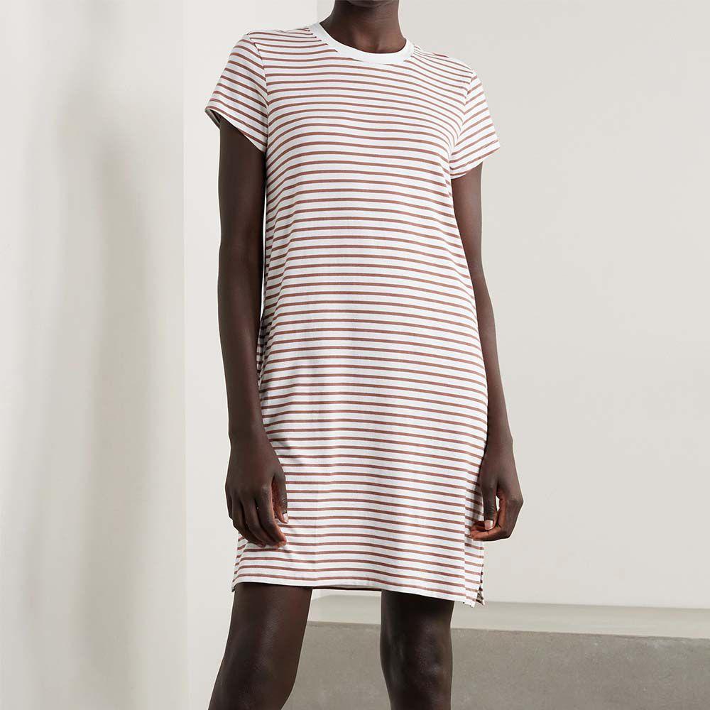 Madina Striped Stretch Organic Pima Cotton Nightdress