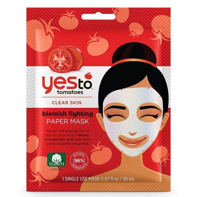 Yes To Tomatoes Clear Skin Acne Fighting Sheet Mask