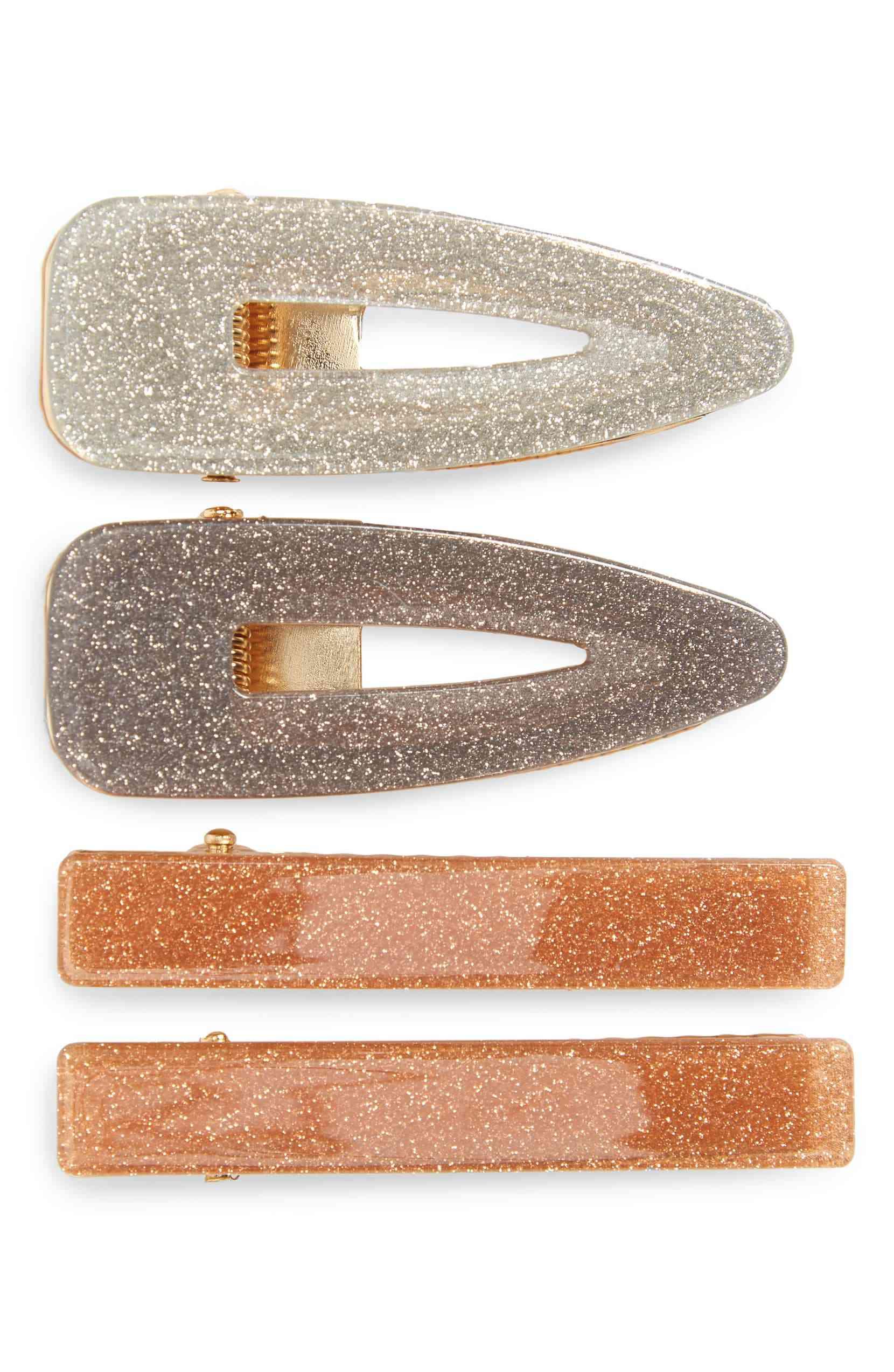 4-Pack Glitter Hair Clips
