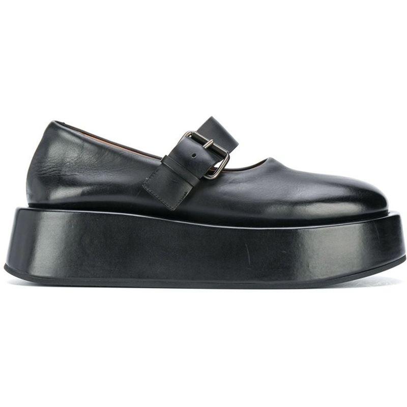 Strapped Platform Oxford Shoes