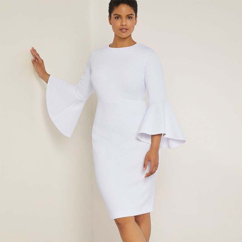 Flare Sleeve Scuba Dress ($99.95)