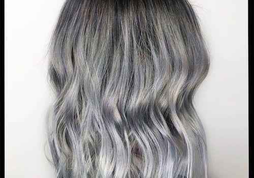 woman with titanium hair