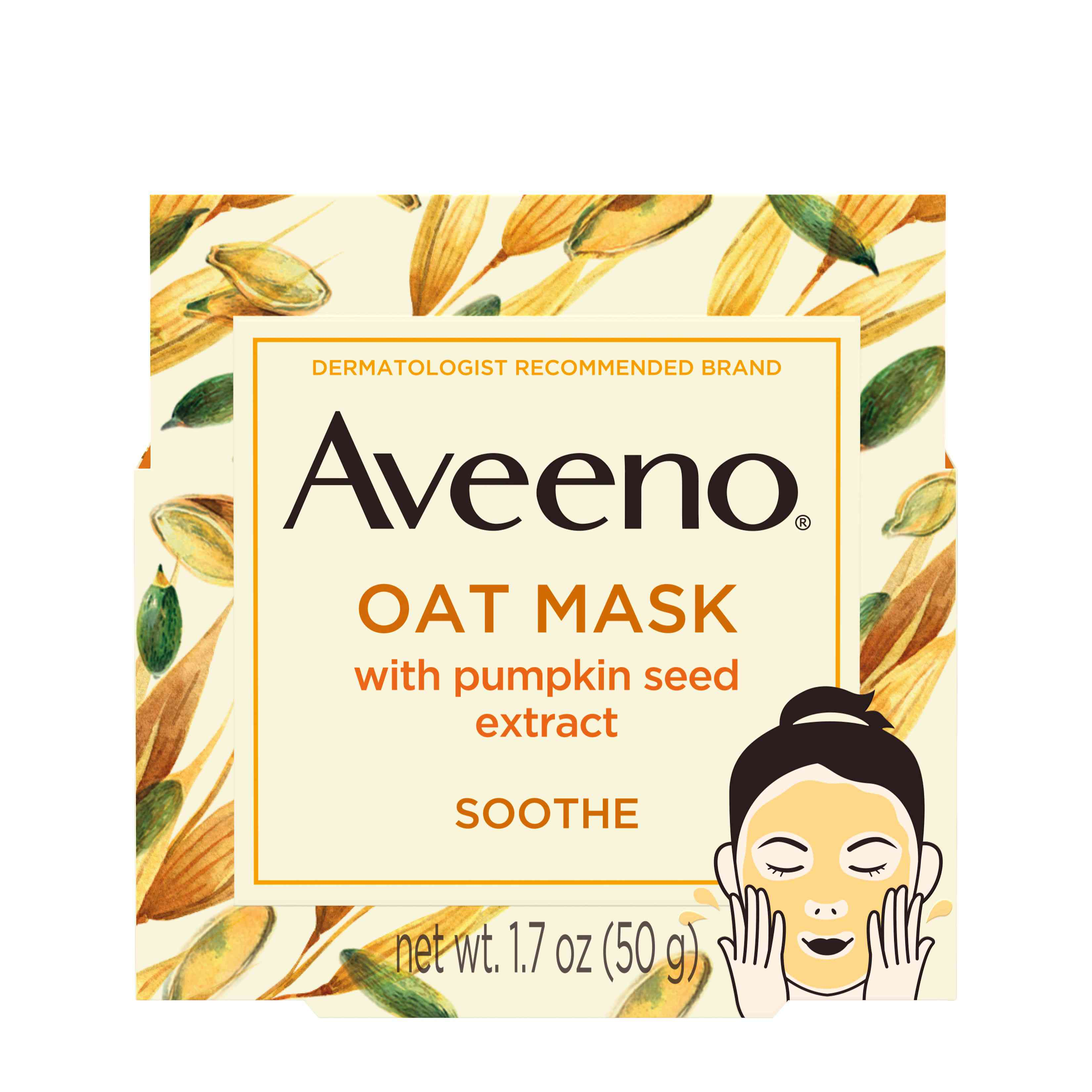 Aveeno Soothe Oat Face Mask with Pumpkin Seed Extract