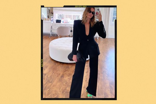 Hailey Bieber Black Blazer Outfit Style