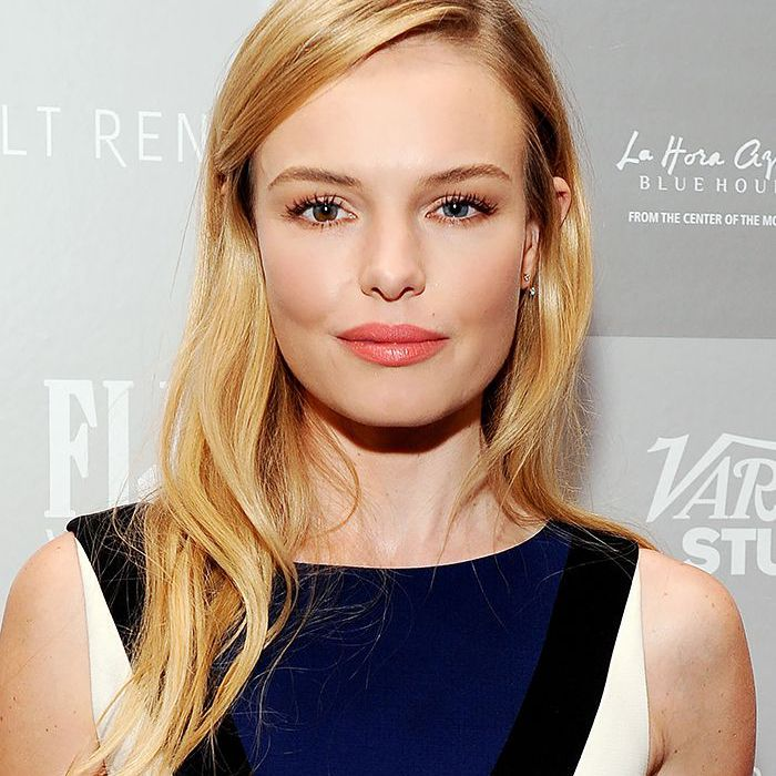 Kate Bosworth side-parted long blonde hair