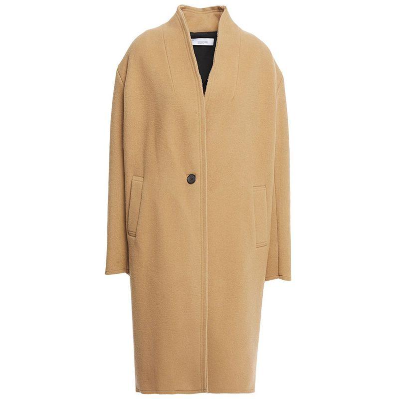 Malara Wool-Blend Felt Coat