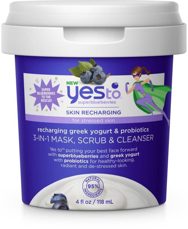 Superblueberries Skin Recharging 3-In-1 Mask, Scrub & Cleanser