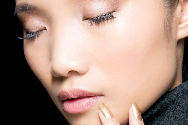 Model with Lashes