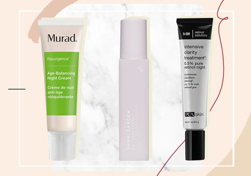 graphic with 3 different retinol products