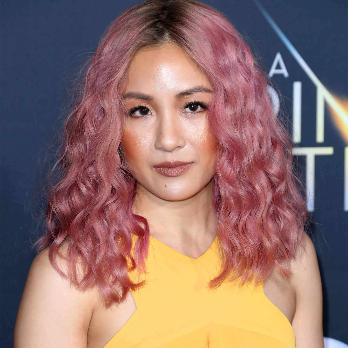 Constance Wu with Rose Gold Hair