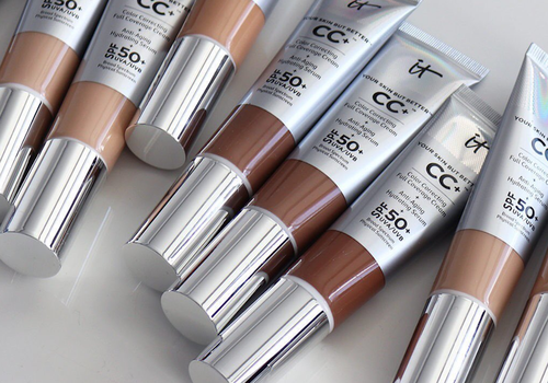 row of it cosmetics CC cream in different shades