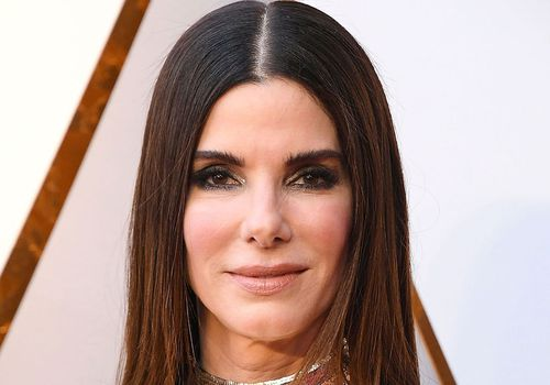 Sandra Bullock Long Hair Center Part