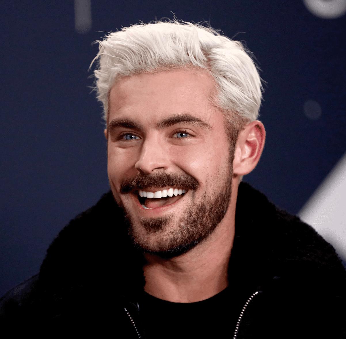 Zac Efron Platinum Hair