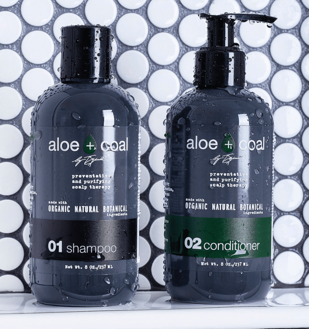 Aloe + Coal Shampoo and Conditioner Set