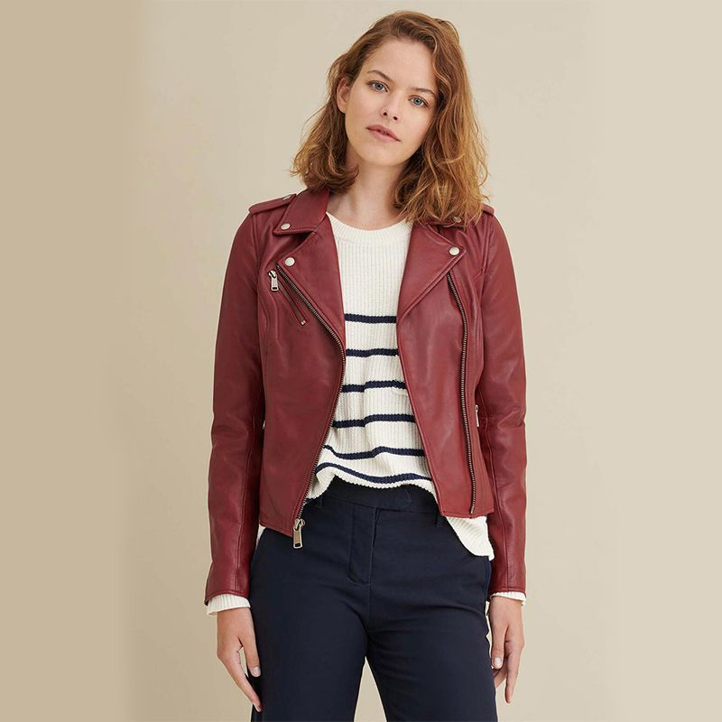 Madeline Asymmetrical Leather Jacket