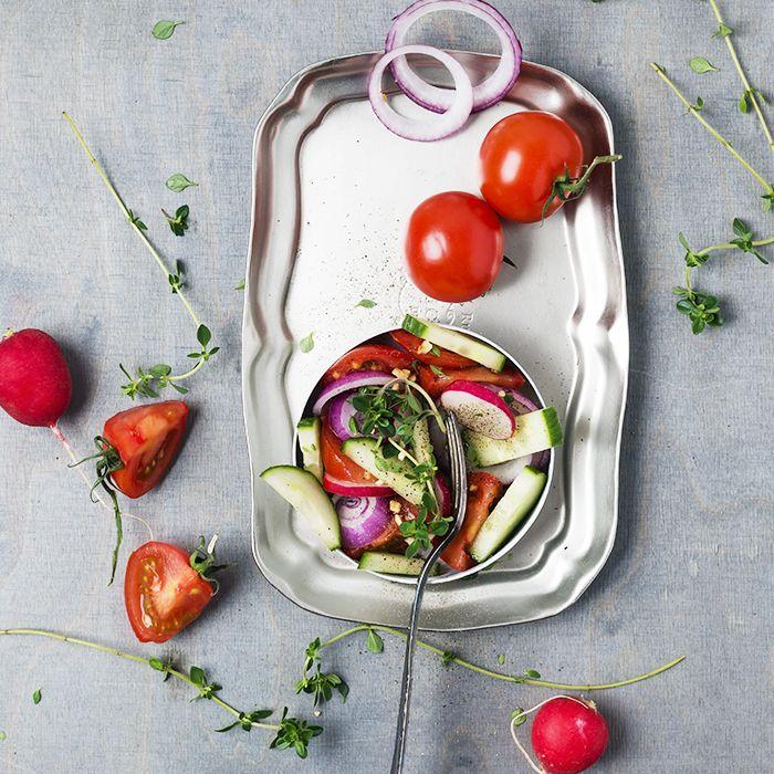 Raw vegan diet: image of raw vegetables