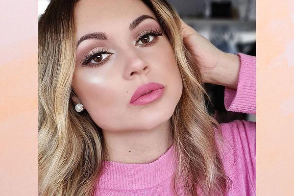 Woman showcasing her makeup