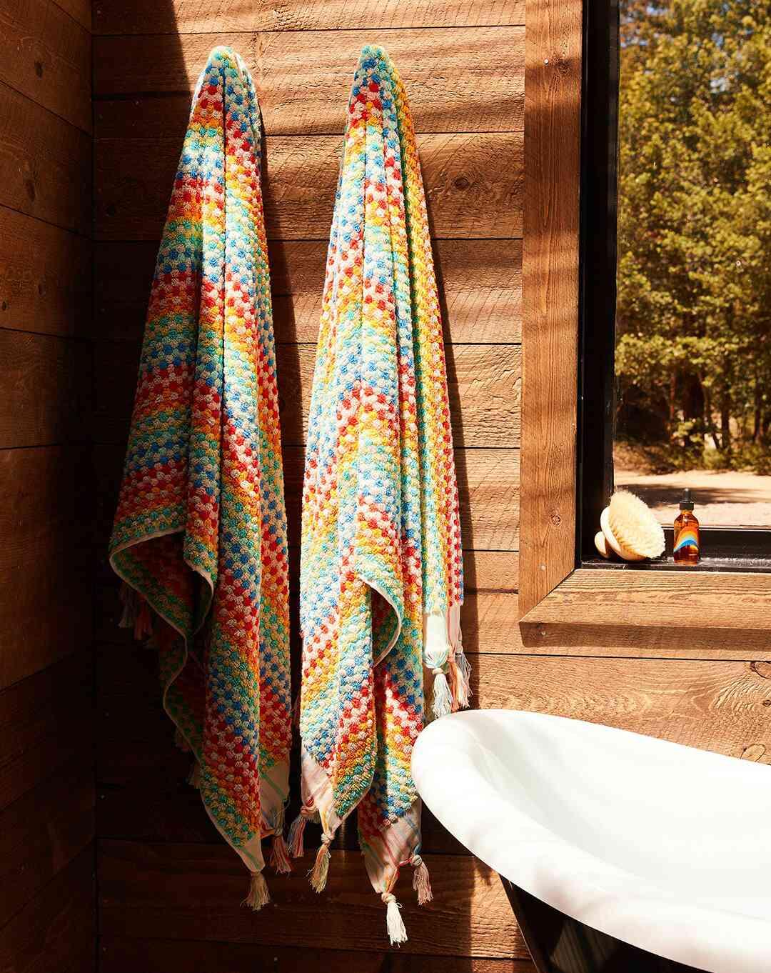 Bathing Culture Organic Cosmic Rainbow Towel