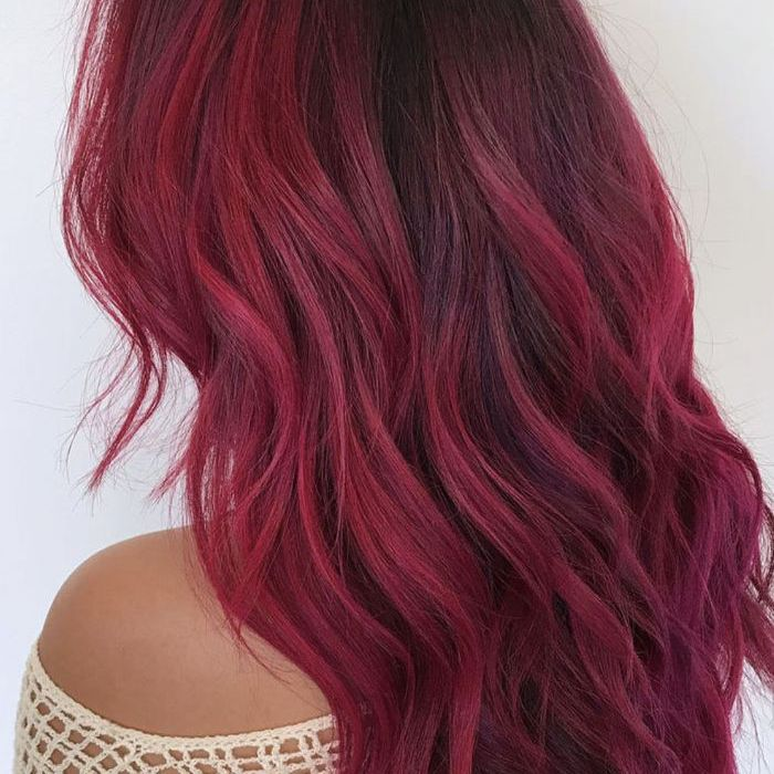 Best Examples Of Red Ombré Hair