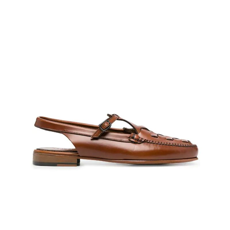 Caleta Woven Leather Loafers
