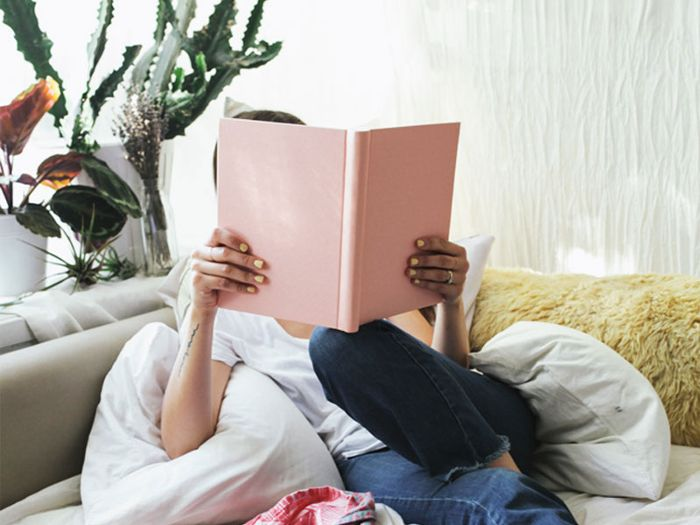 wellness books worth reading: Girl with book