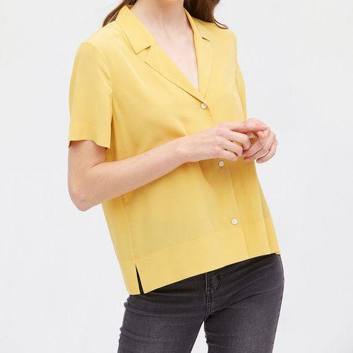 Lilysilk V Neck Half-Sleeve Notch Silk Shirt