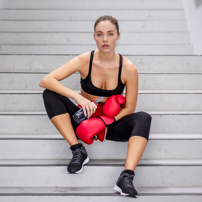 January Healthy Mistakes: Woman in fitness wear