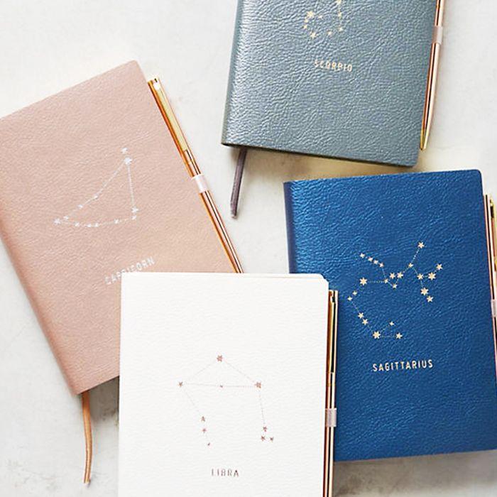 Moon rituals: Anthropologie zodiac journals