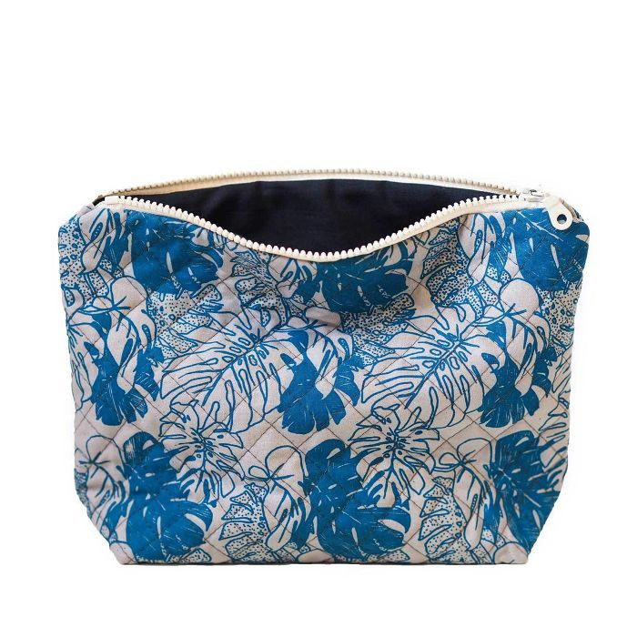 Lucy Engels Large Makeup Bag Tropical Teal