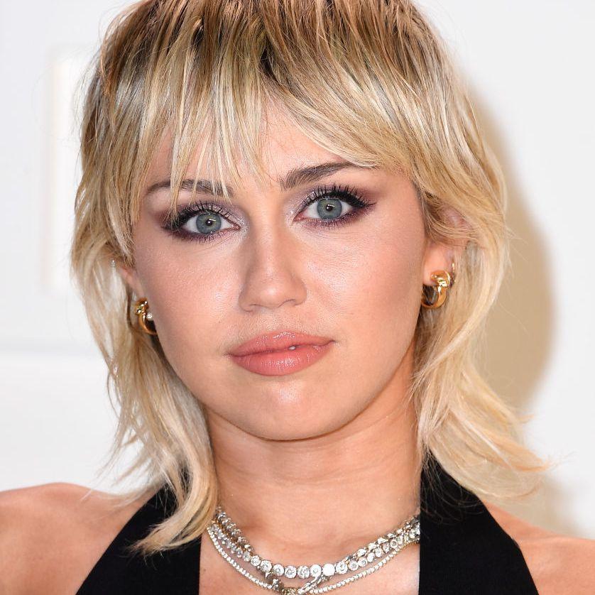 Miley Cyrus blonde mullet