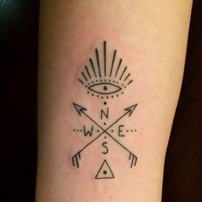 Minimalist mystic tattoo