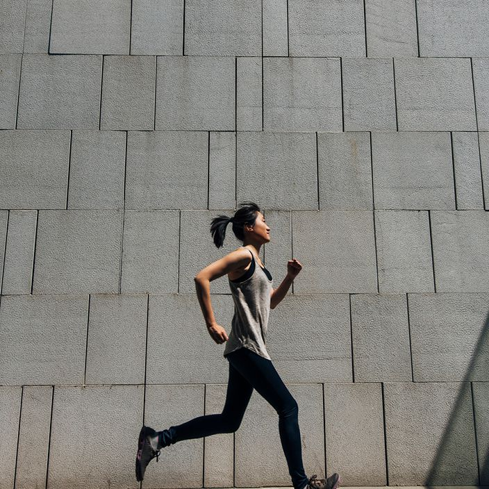 person doing daily run