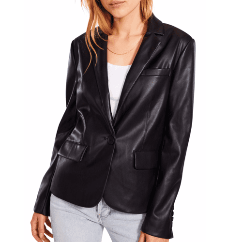 BB Dakota Faux Leather Blazer