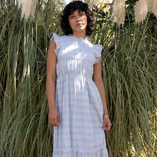 Danila Smocked Midi Dress ($135)