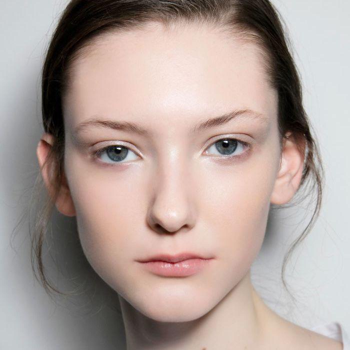 Girl wearing minimalist makeup