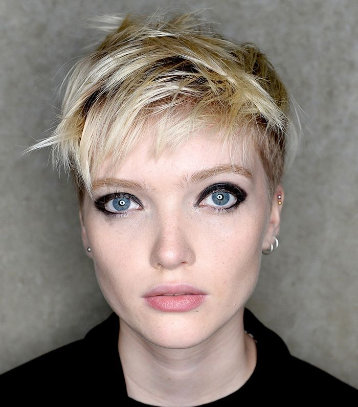Ruth Bell piecey, tousled blonde pixie