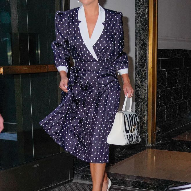 Lady Gaga Outfits Polka Dot Dress