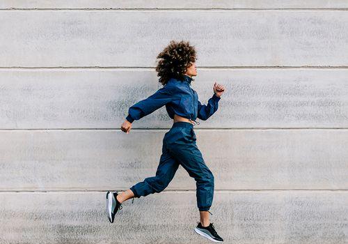 person doing morning jog
