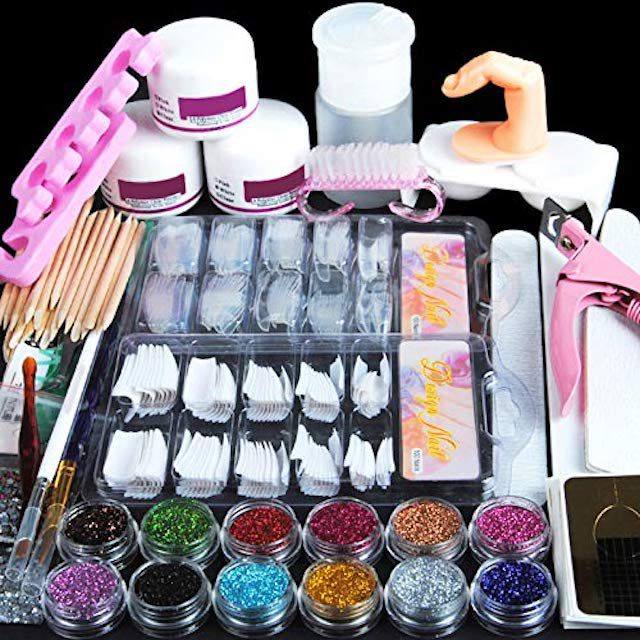 Coscelia Acrylic Powder Glitter Nail Art Kit