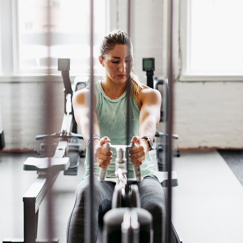 person exercising in the gym