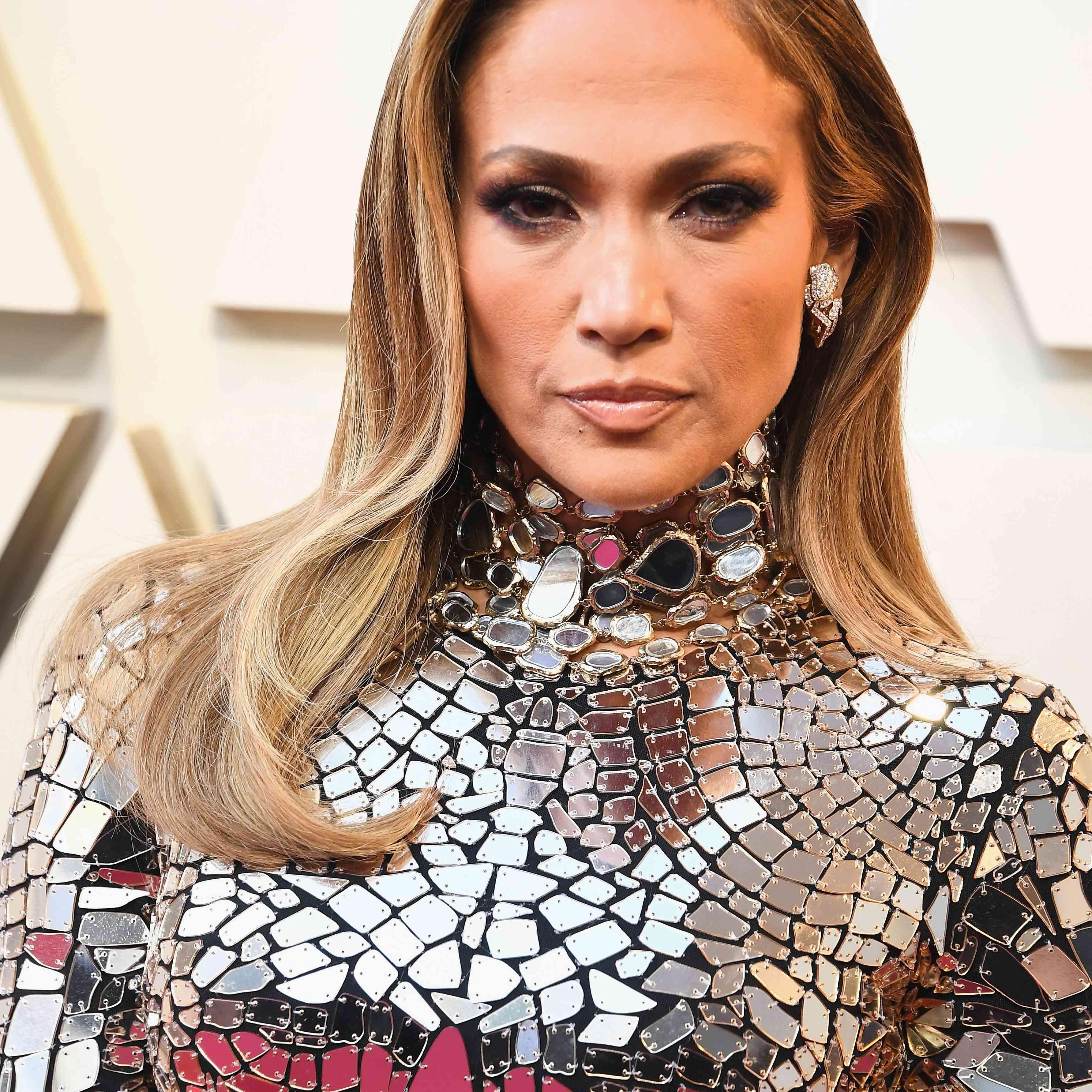 Jennifer Lopez in glass top