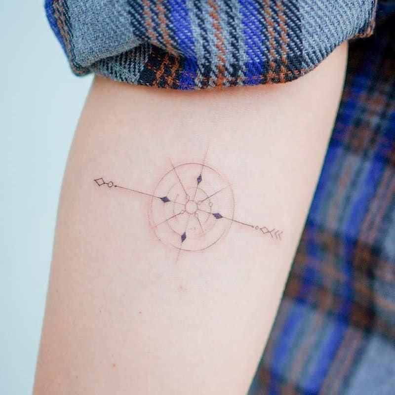 Compass Tattoo Inspiration Wispy